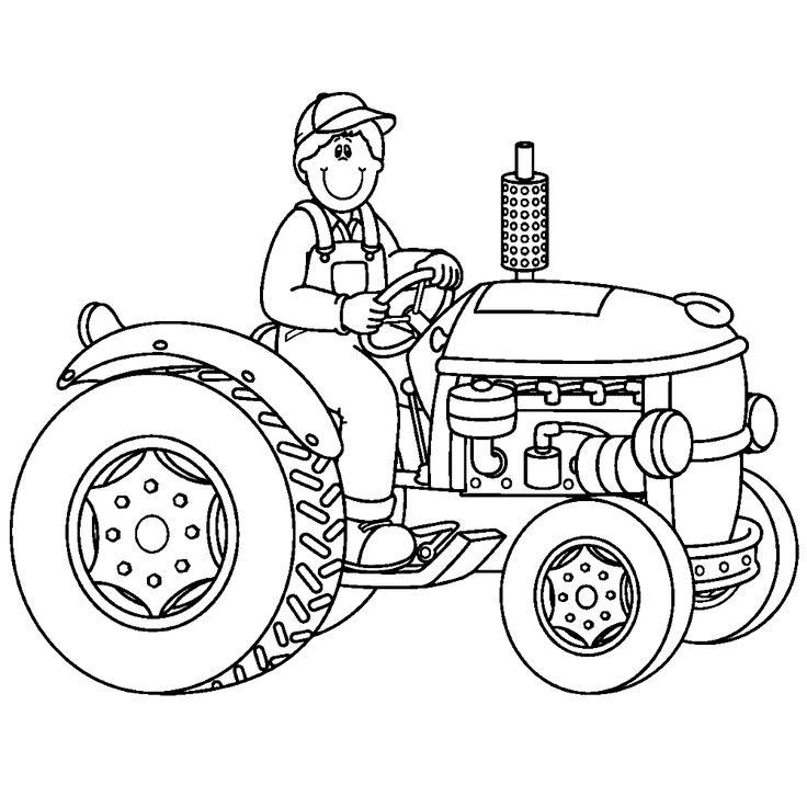 tractor 0007 kleurplaten dier schetsen en kleurboek