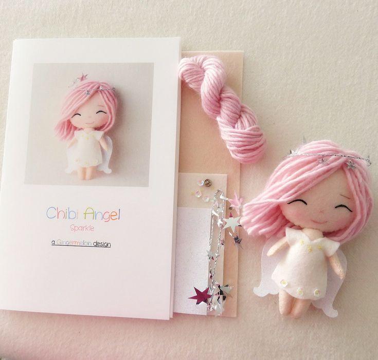 Sparkle - Chibi Angel Pattern Kit by Gingermelon on Etsy