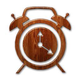 woodwork clock | Traditional Alarm Clock (Clocks) Icon Version 2 #081466