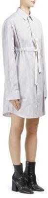 Maison Margiela Cotton Poplin Striped Dress