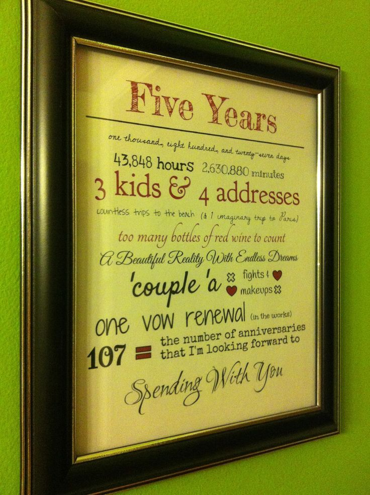 """5 year anniversary """"our story""""  printable... This would be great for the future anniversary."""