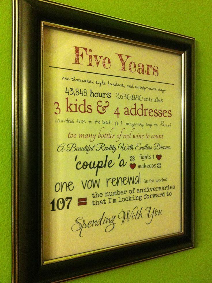5 Year Anniversary on Pinterest Anniversary Ideas Wedding