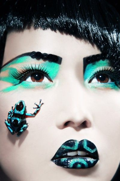 Frog Inspired Make Up A Collection Of Other Ideas To Try Dark Fairy Makeup Frogs And Cute Frogs