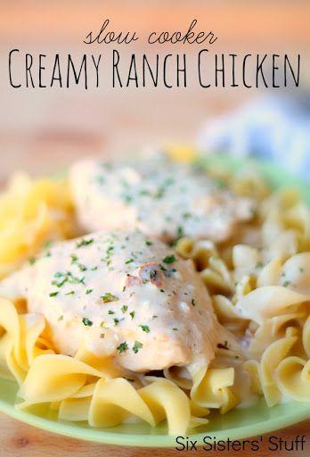 Slow Cooker Creamy Ranch Chicken Recipe on Yummly. @yummly #recipe