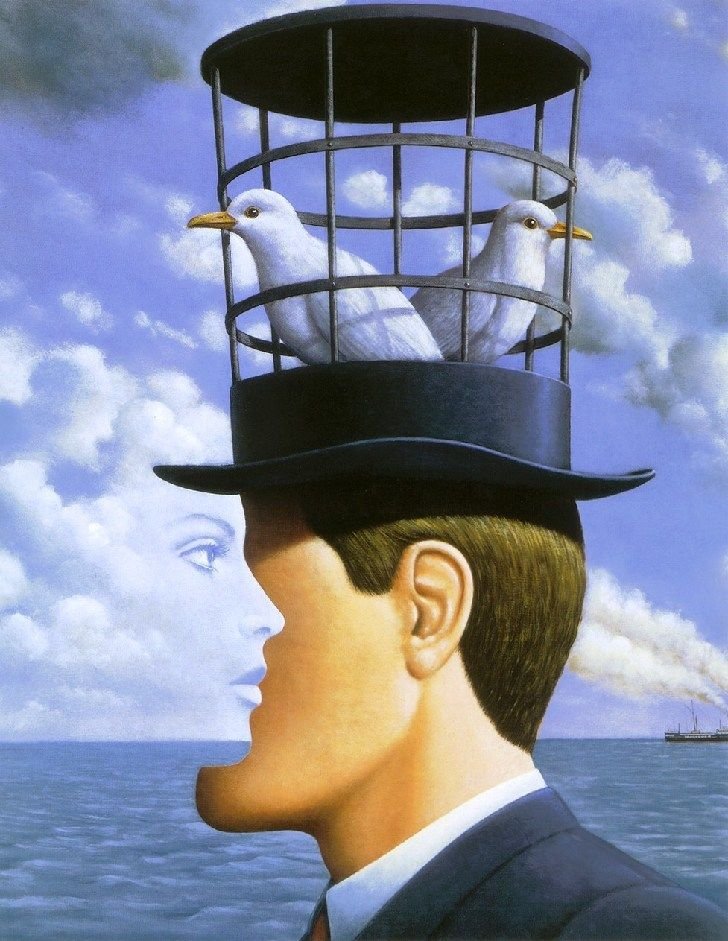 an analysis of surrealistic painting time by rene margritte