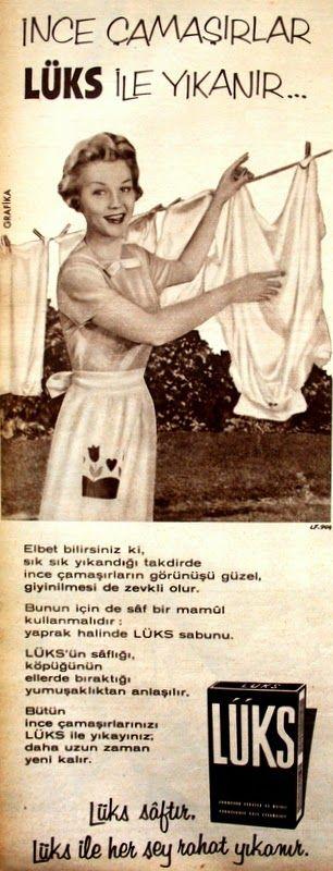 OĞUZ TOPOĞLU : lüks çamaşır sabunu 1959 nostaljik eski reklamlar