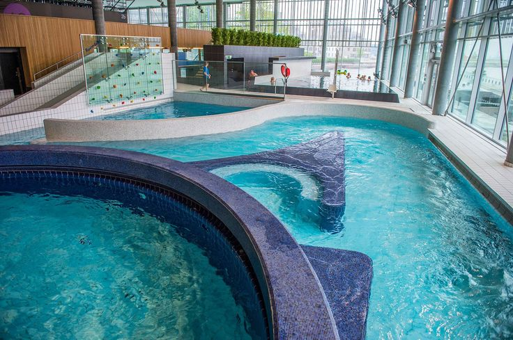 Aquarama pool and leisure centre, in Kristiansand, Norway by architects Asplan Viak AS - done with swimming pool ceramics by AGROB BUCHTAL