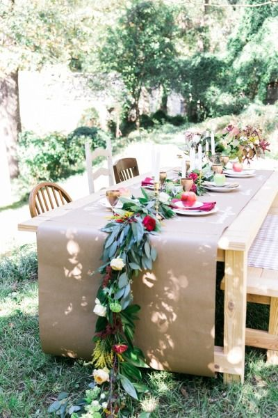 Fall bridal shower table: http://www.stylemepretty.com/2014/11/28/autumn-al-fresco-bridal-shower/ | Photography: Kathryn McCrary - http://www.kathrynmccrary.com/