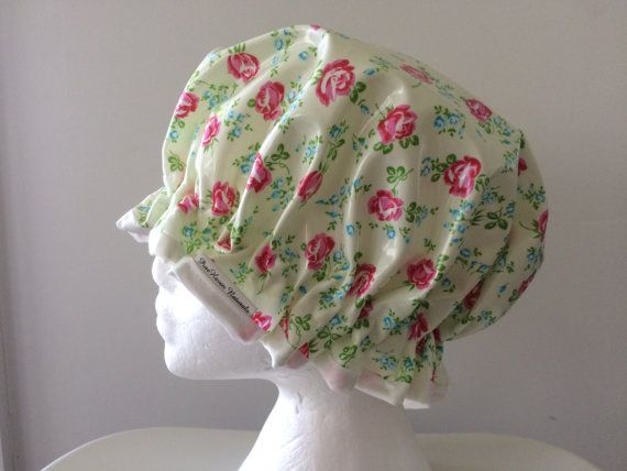 Handmade Shower Cap In Laminated Cotton PVC & by PureHavenNaturals