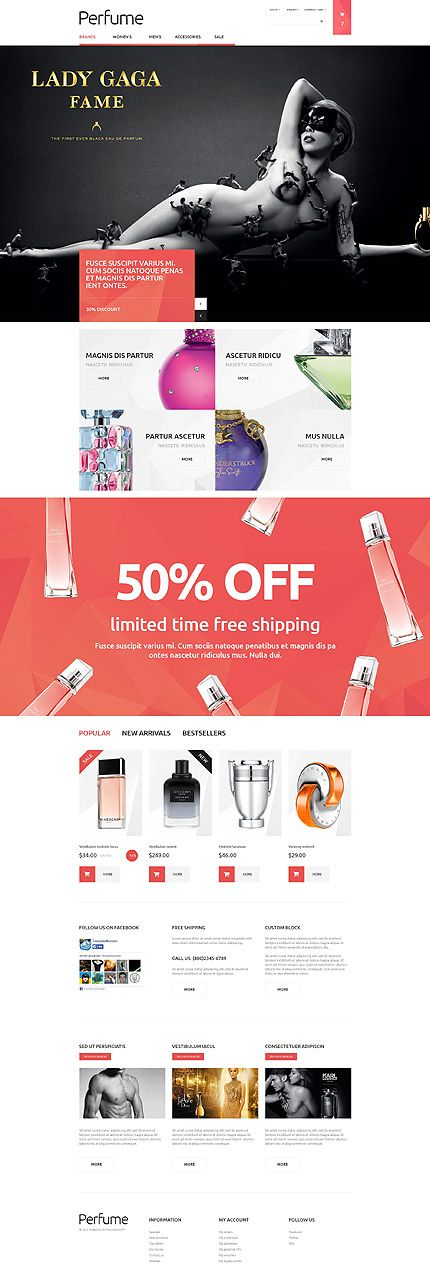 Perfume Online Store #PrestaShop #template. #themes #business #responsive #webshop