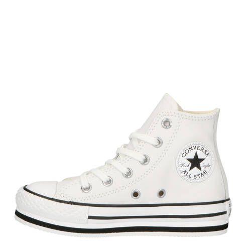 Chuck Taylor All Star Platform EVA Hi leren sneakers met ...
