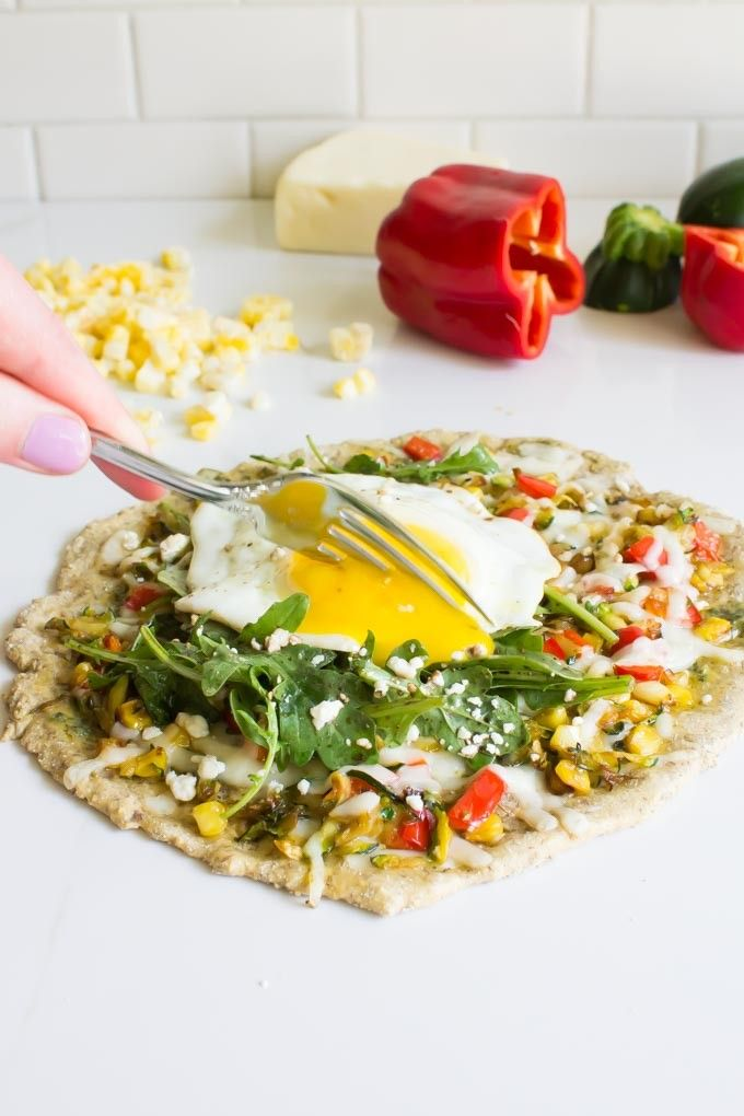 Shredded Zucchini & Fontina Breakfast Pizza for ONE + 5 other zucchini recipes