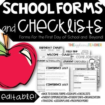"There are so many things we as teachers need to keep track of! That is why I compiled all of my favorite teacher forms, logs, and checklists into one place! These forms and checklists will take you from ""Meet the Teacher"" to the last day of school."