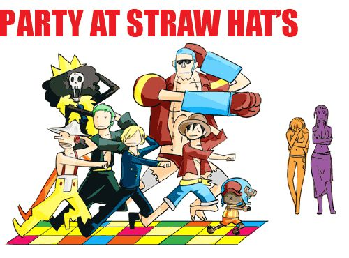 Party at Straw Hats GIF XD Even if you're not a fan, this'll put a smile on your face!!