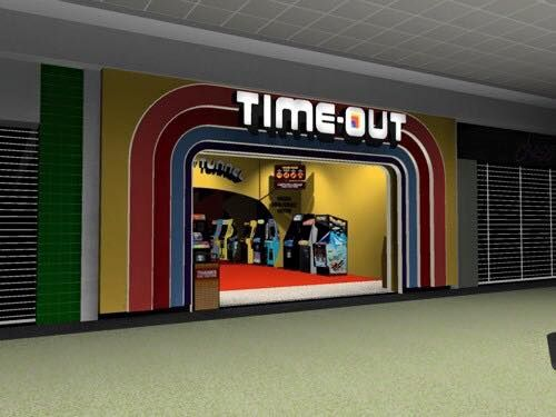 Time-Out Arcade in Sunrise Mall on Long Island in the 1980s