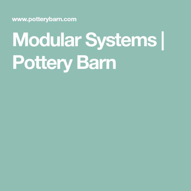 Modular Systems Pottery Barn Wall Organization