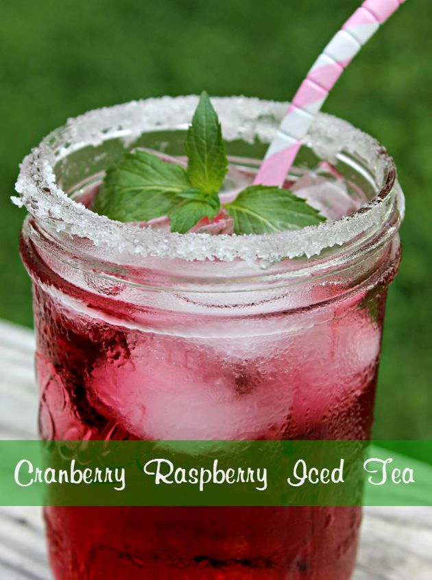 If you want a drink that will quench your thirst on a hot summer day, this Cranberry Raspberry Iced Tea will do the trick!