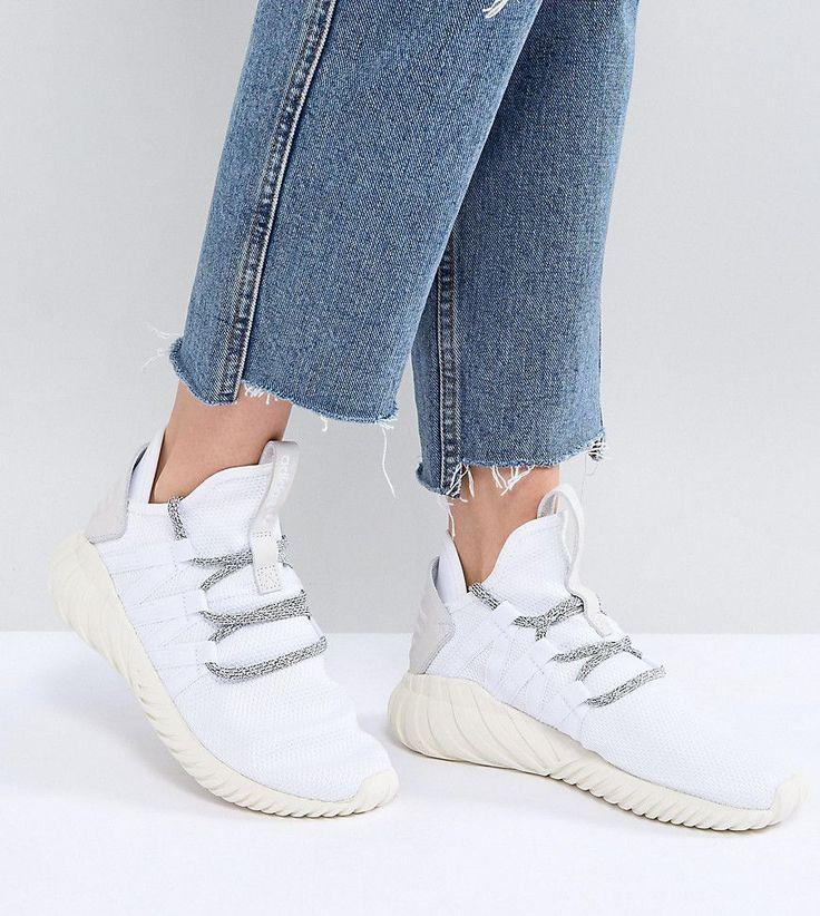ADIDAS ORIGINALS ADIDAS ORIGINALS TUBULAR DAWN SNEAKERS IN WHITE - WHITE. #adidasoriginals #shoes #