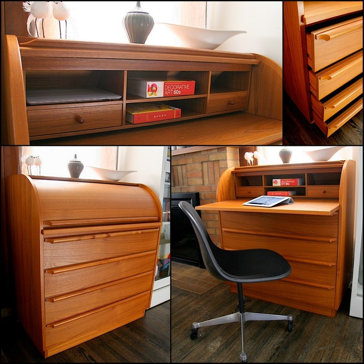 True Cylinder Desk In Modern Style. Danish Teak Chest/Desk   Sold At  Workbench, Which Went Out Of Business (sigh)