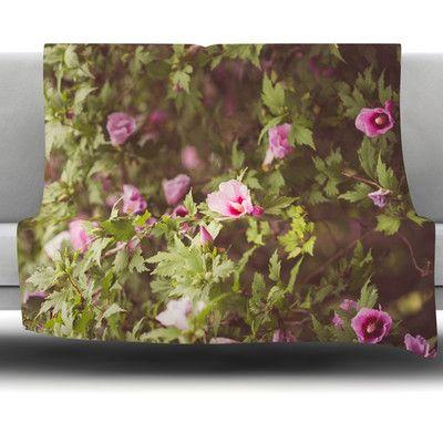 "East Urban Home Lush by Ann Barnes Fleece Throw Blanket Size: 60"" x 50"""