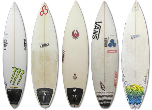 The used surfboard rack at Surf Station in St. Augustine, Florida; photo courtesy Surf Station Surf Shop
