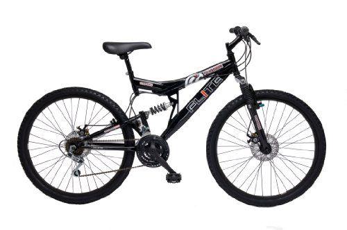 Flite Men's Phaser Dual Suspension Mountain Bike – Black (Wheel 26 inches, Frame 18 inches)