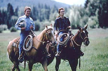 Robert Reford and Kristen Scott Thomas in The Horse Whisperer