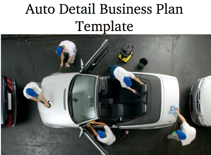 There has always been the need for mobile auto detail and car wash services and as cars get more and more expensive and people keeping their vehicles for longer the market is growing. Use our auto detail business plan template as a foundation for your dream venture.