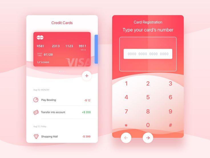 Credit card full screen