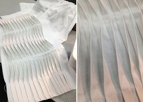 Wave Tucks - tuck & fold, fabric manipulation technique to create undulating patterns with fabric; creative sewing #textiles