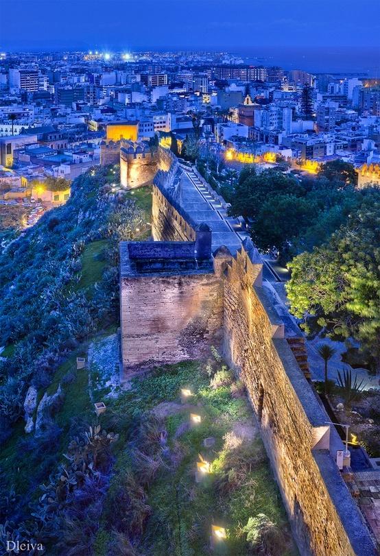 Walls of the Alcazaba, Almeria