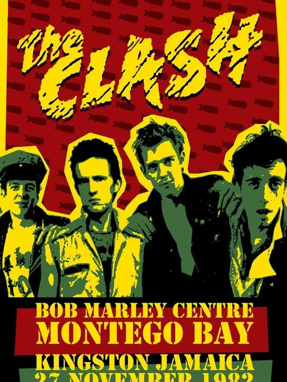 The Clash Montego Bay Punk A5 greeting card Birthday