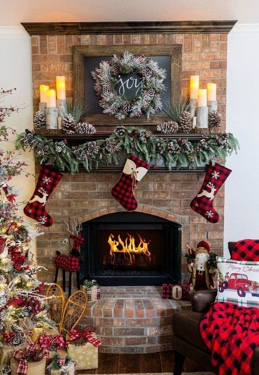 50 diy rustic christmas decorations for fireplace others in 2018 pinterest