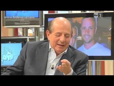 """Mercoledì 27 febbraio, Federico Russo ospite negli studi RAI nella trasmissione """"I Fatti Vostri"""" con Giancarlo Magalli. Federico parla del caso pistorius e della sua amicizia con Oscar. http://www.federusso.com"""