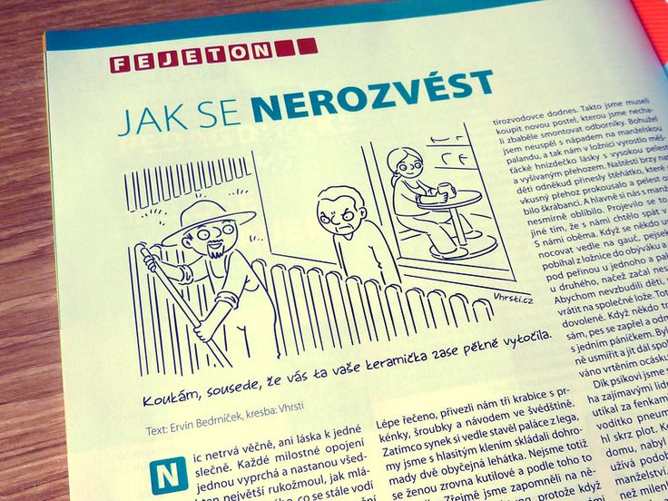 kreslený vtip v časopise