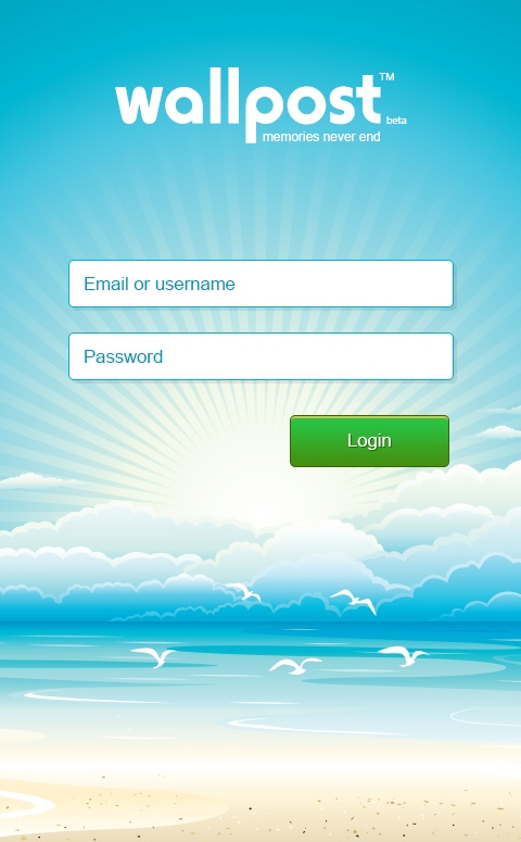 wallpost android login screen