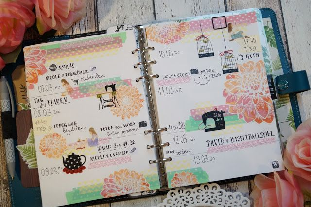 Creative Pages by amaryllis775: Filofaxing / Dahlia