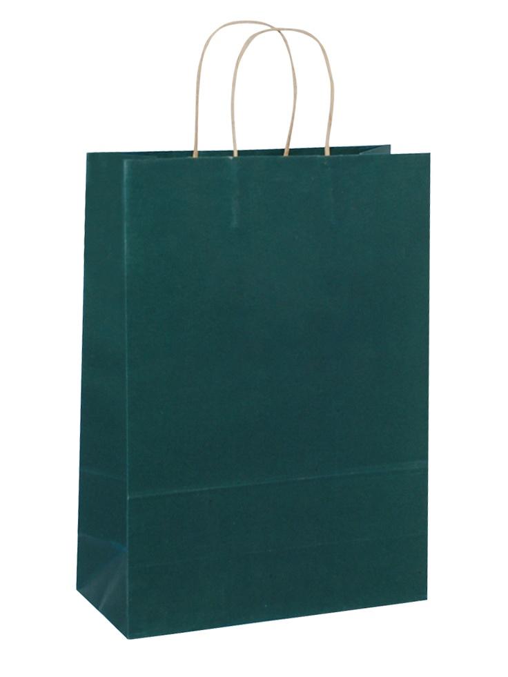 Brown Carrier Bag Twisted Handle - Solid Dark Blue
