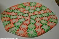 make a peppermint serving dish for christmas
