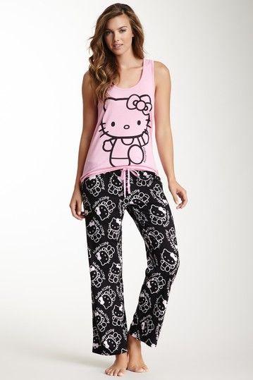 Hello Kitty Racerback Pajama Set