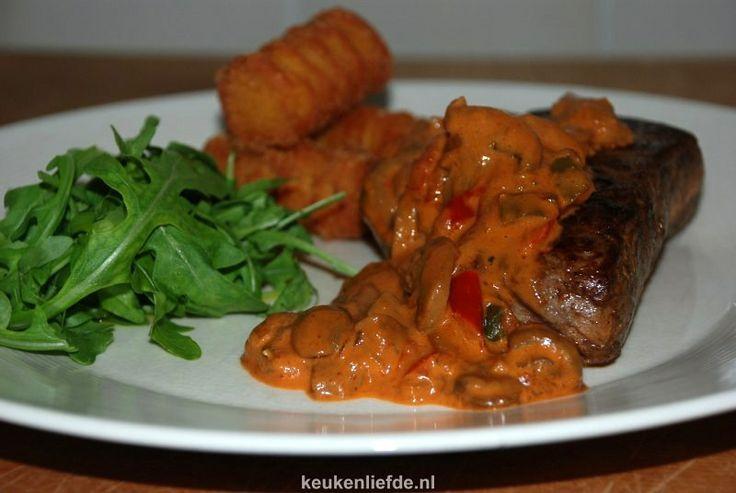 Stroganoffsaus met biefstuk