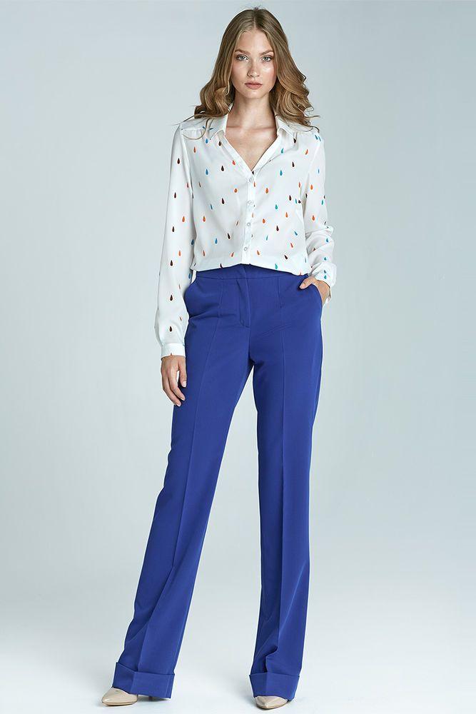 Pantalon femme bootcut bleu mode chic mode qualité SD21 Nife 34 36 38 40 42 44 #Tailleurhabill