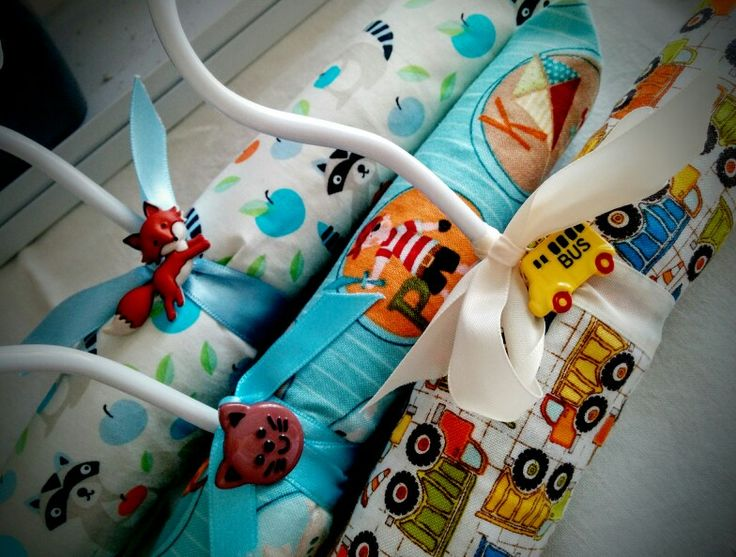 Baby boys coathanger pack. Etsy shop: Charlie and Coco Baby #babyboy #boysgift #foxes #trucks #baby #babyshower #charlieandcocobaby
