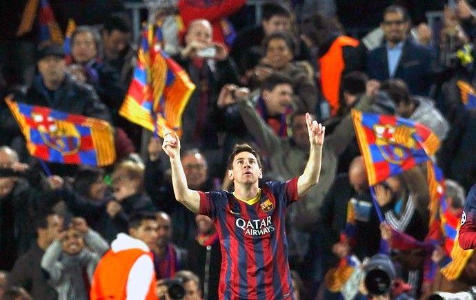 Messi gol Barcelona jogo Manchester City (Foto: Reuters)