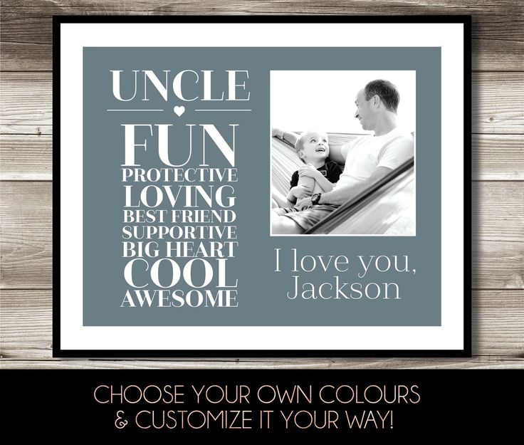 Uncle Photo Print, Gift for uncle, Digital Print, Uncle birthday gift, Special gift for Uncle by ForEvaPrints on Etsy
