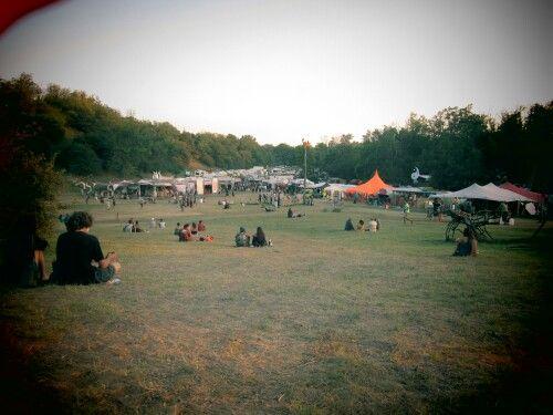 'Ozora festival' View to the market area.