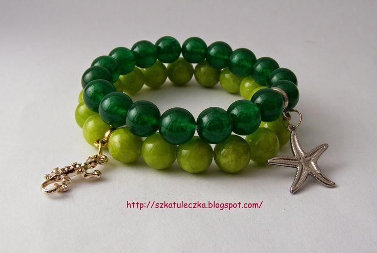 Zielony marmurek i jadeit
