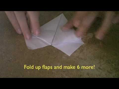 how to make an origami 7 pointed star