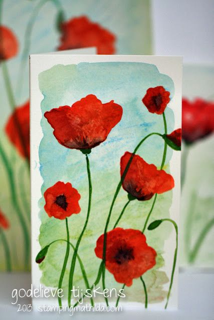StampingMathilda: Watercolored Poppies