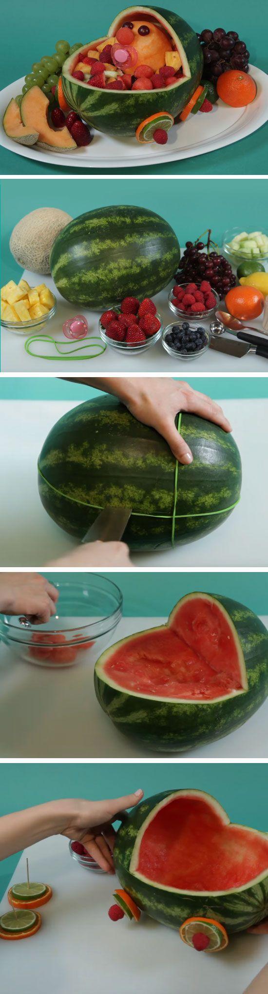 Stroller Fresh Fruit Salad | DIY Baby Shower Ideas for a Girl | Easy Birthday Party Ideas for Girls DIY